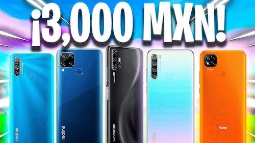 Celulares de 3000 pesos México 2021